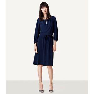 Tory Burch XS Kara Dress Off The Shoulder Blue